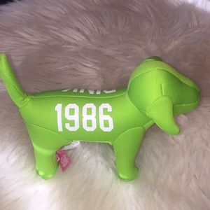 PINK collectible dog from VS lime green 1986